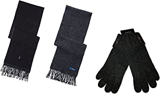 Polo Ralph Lauren Men's Set Reversible Wool Scarf and Gloves One Size