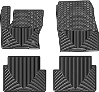 WeatherTech All-Weather Floor Mats for Ford Escape - 1st & 2nd Row (Black)