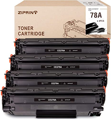 2021 ZIPRINT Compatible Toner Cartridge Replacement lowest for HP 78A CE278A Use with HP online sale Laserjet P1606dn 1606dn M1536dnf 1536dnf MFP P1566 P1560 Toner Cartridge (Black,4-Pack) outlet sale