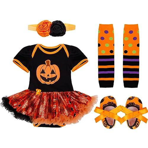 4b64e18bd1ed iiniim Newborn Babies Girls My First Halloween Pumpkin Christmas Outfits  Tutu Princess Romper Maching with Headband
