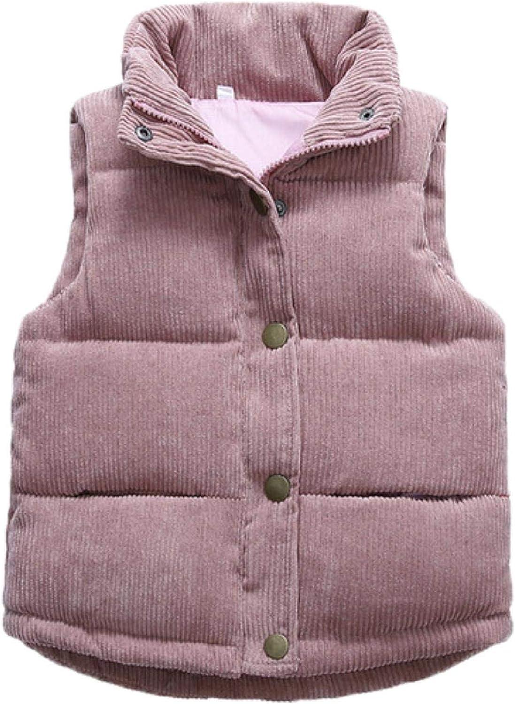 Girls Warm Vest Winter Boys Outerwear Vest Children Teens Cotton Jackets Vest,as the picture,10