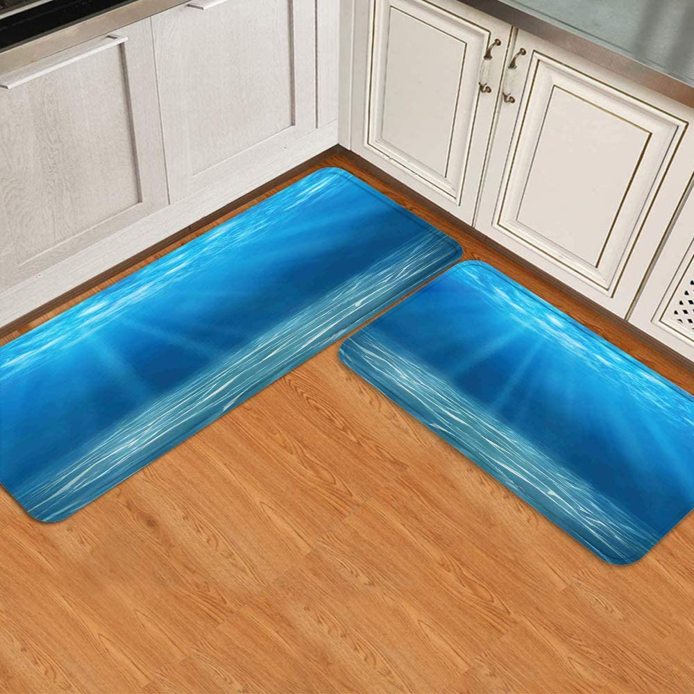 Limited time cheap sale MATEKULI Anti Fatigue mart Kitchen Floor Mat Ocean of 2 Set Underwate