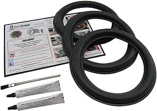 JL Audio 3 Pack 10 Inch Foam Speaker Repair Kit, 10W6v2-D4, FSK-10JLv2-3 (Triple)
