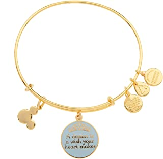 Disney Parks Alex and Ani Dream is a Wish Gold Charm Bangle Bracelet