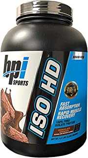 BPI Sports, ISO HD, 100% Pure Isolate Protein, Chocolate Brownie, 4.9 lbs (2,208 g)