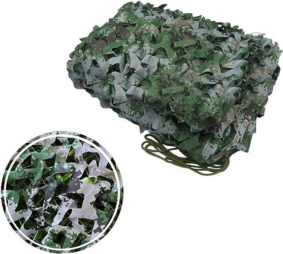 Filet de Prougeection Solaire for Jardin, Filet de Camouflage Filet d'ombrage Auvents Vert Jungle Filet de Camouflage for Tentes Résistantes au Feu Aux Flammes (Taille   6  8M)