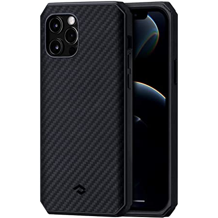 PITAKA MagEZ Case Pro 2 for iPhone 12 Pro Max Compatible with MagEZ Magnetic Chargers Durable Drop Tested Protective Case with TPU Bumpers and Shock Absorbing Protection- Black