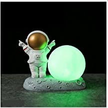 Astronaut Astronaut Model Nachtlampornament, Slaapkamer Bed Tafel Decoratie goud