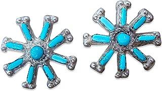 needlepoint turquoise earrings