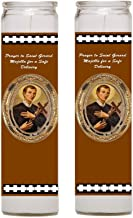 Saint Gerard Majella Prayer for Safe Delivery Set of 2 Candles with Blessed Prayer Card with Heat Sealed Medal or Only Candles (Candles)