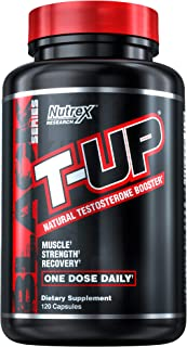 Nutrex Research T-Up | Natural Testosterone Booster with D-Aspartic Acid, Zinc, B6, B12 | 120 Capsules