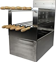 Brazilian Style Multispit Charcoal Rotisserie BBQ