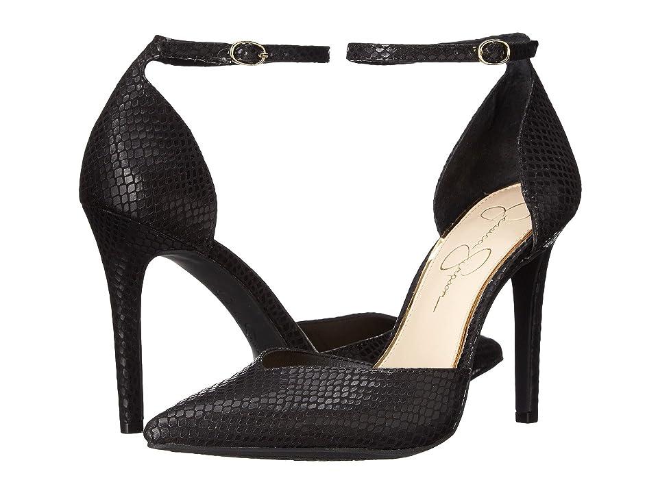 Jessica Simpson Cirrus (Black Ditzy Snake) High Heels