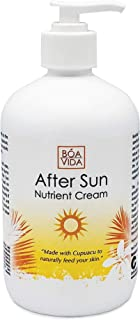 BoaVida After Sun Lotion Nutrient Cream and Tan Enhancer, To Help Moisturize and Soothe, Dry, Sun Burned, Itchy, Peeling, and Red Skin, Use To Cool Down Skin, 16 Ounce by Central Solutions Inc.