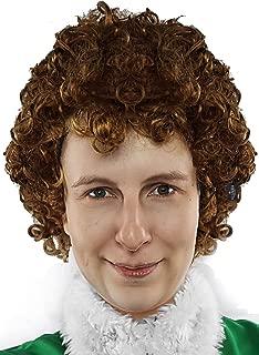 Bad Elf Wig Napoleon Brown Afro Wigs 70s Disco Costume Wigs Hippie Costume - Unisex Fits Men Women & Kids