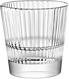 Barski European Glass - Tumbler Glasses - Uniquely Designed - Stackable - Won't Get Stuck - Set of 6 - 10 oz. - Made in Europe