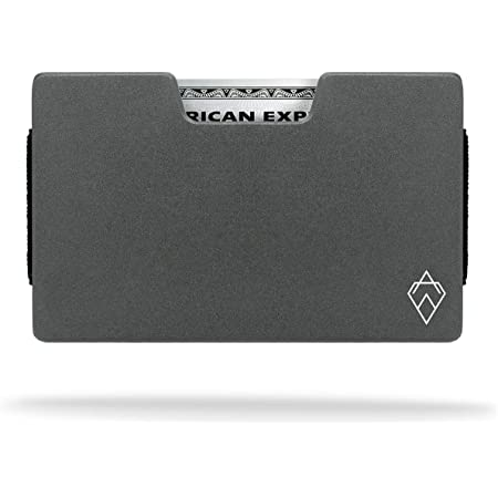 AKIELO Atom Wallet – RFID Blocking Card Holder with Money Clip and Gift Box – Expandable Minimalist Wallet Design – Slim Mens Wallet (Atom Collection)