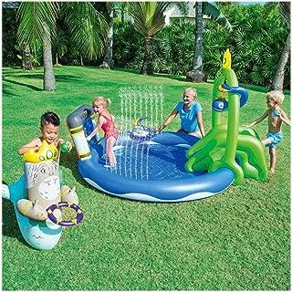 Treslin Wasserrutsche Aufblasbare Spielplatz Rutsche F/ür Kinder Sommer Hinterhof Schwimmbad Spiele Outdoor Spielzeug @ a