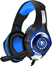 BlueFire Stereo Gaming Headset for Playstation 4 PS4, Over-Ear Headphones with Mic and LED Lights for Xbox One, PC, Laptop...