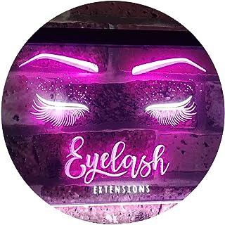 Eyelash Extension Beauty Salon Indoor Decoration Dual Color LED Neon Sign White & Purple 400 x 300mm st6s43-i1089-wp