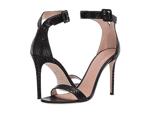 Giuseppe Zanotti Neyla Croc Embossed Heel Sandal