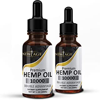 (2 Pack) Hemp Oil 10000, Natural Grown Hemp & Made in The USA by New Age