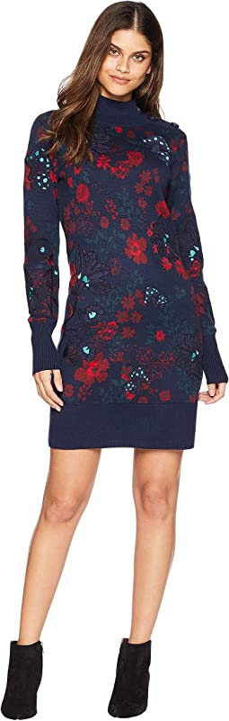 Sweater Spellbound Floral Applique Dress