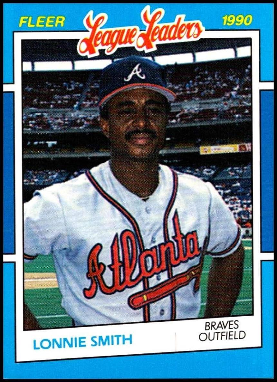 1990 Fleer League Leaders #37 Lonnie Smith NM-MT Atlanta Braves Officially Licensed MLB Baseball Trading Card