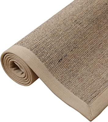 WX&QIANG Sisal Natural Vegetation Woven Environmentally Friendly Wear-Resistant Pressure Living Room Bedroom Rectangular Rug Creativity, Fitness, Crawling for Kids (Color : A, Size : 80 * 150CM)