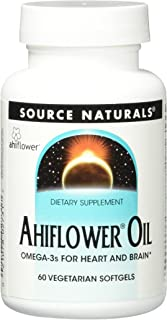 Source Naturals Ahiflower Oil - Omega-3s for Heart and Brain - 60 Vegetarian Softgels