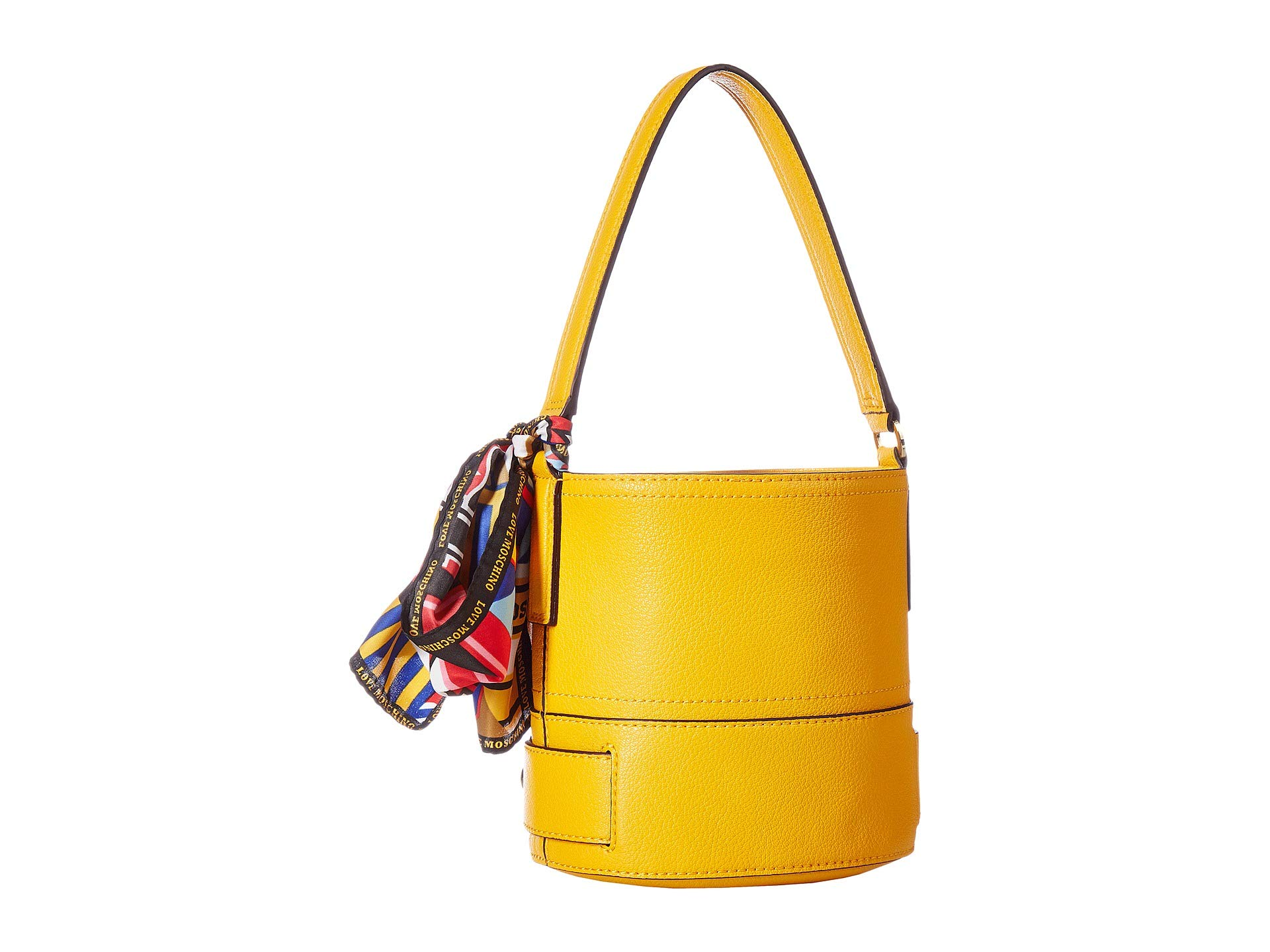Scarf Love With Bucket Moschino Bag Yellow IPqTU7w