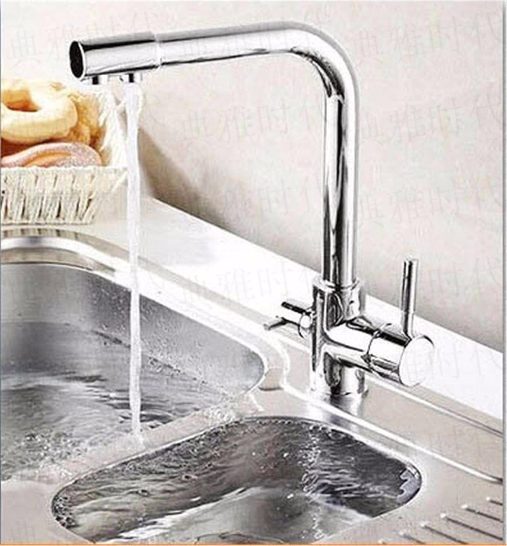 Bijjaladeva Wasserhahn Bad Wasserfall Mischbatterie WaschbeckenDie Küche Coole wei Schwarz Reines Trinkwasser Direkt Gold-Kupfer Küche Wasserhahn Wasseraufbereiter Silber