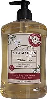 A La Maison de Provence Liquid Soap, White Tea, 16.9-Ounce Bottles (Pack of 3)