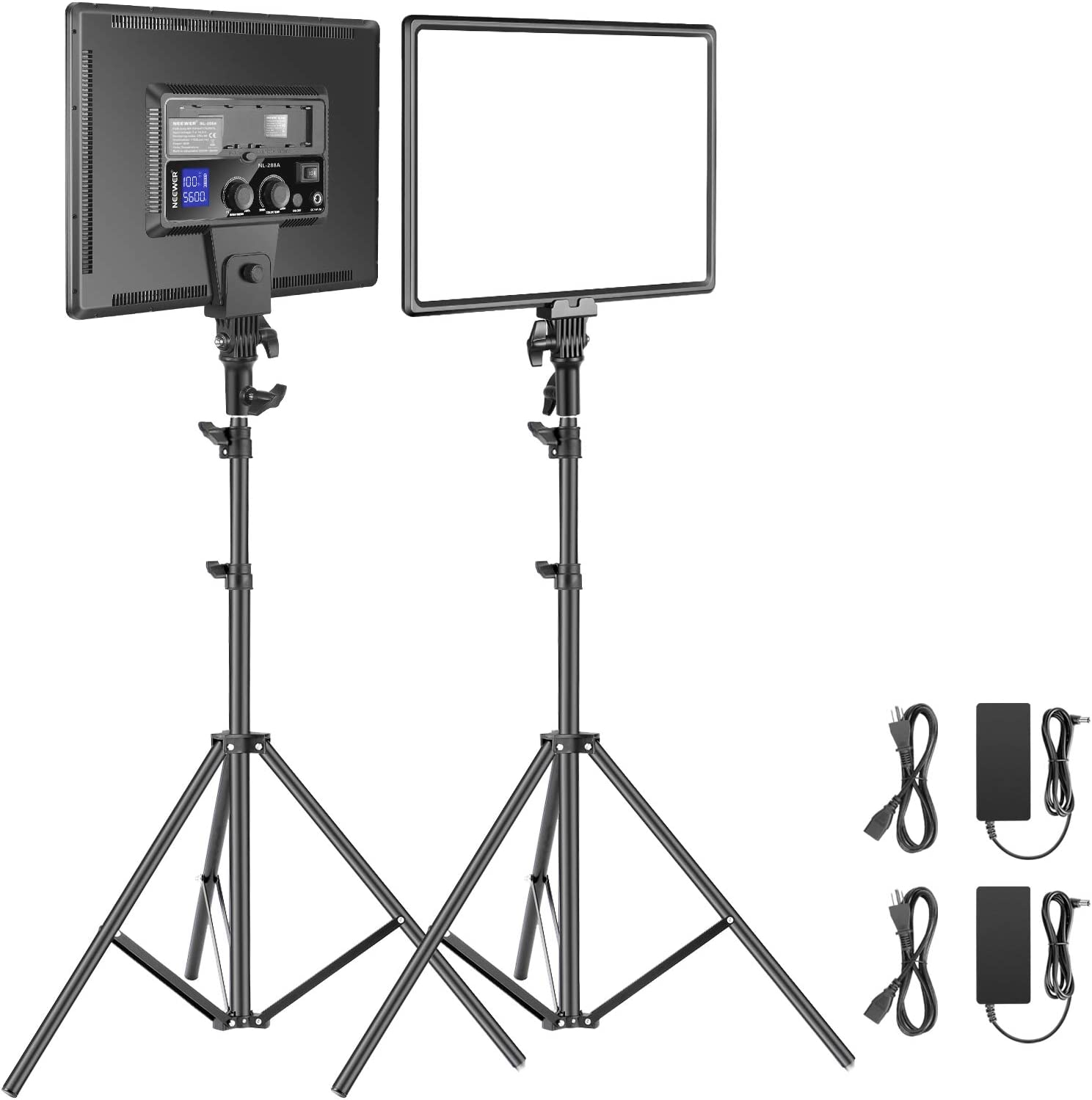 Neewer LED Video Lighting Kit with Stand 6.5ft 2-Pack Bargain sale 40W Directly managed store Dimma