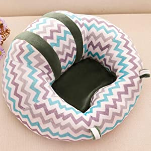 Binghotfire Soft Baby Support Seat Plush Sofa Colorful Soft Baby Infant Learning Sit Grids