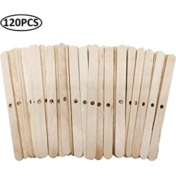 4.4 Inch Wooden Candle Wick Holders Candle Wick Bars Candle Wick Centering Device for Candle Making and DIY Crafts 50