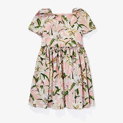 Dolce & Gabbana Kids Lily Print Poplin Dress (Little Kids) (Gigli Rosa) Girl