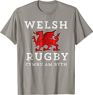 Cymru Am Byth Welsh Rugby Wales Forever Dragon T-Shirt Tee