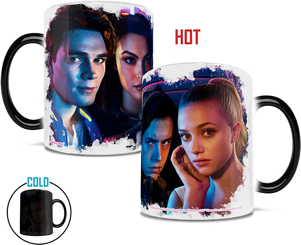 Riverdale The Gangs Together Morphing Mugs Heat Sensitive Mug Ceramic Color Changing Heat Reveal Coffee Tea Mug By Trend Setters Ltd
