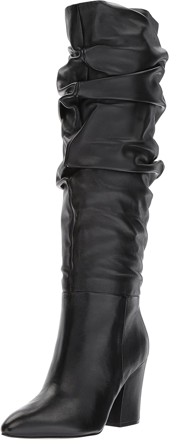 Nine West Womens SCASTIEN Leather Mid Calf Boot