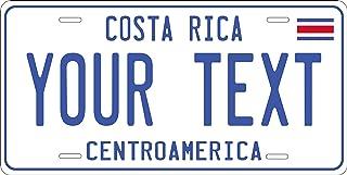 PhotoZoneGa Costa Rico 2012 - Placa de matrícula para Coche, Moto, Bicicleta, Personalizable
