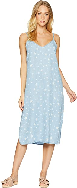 Star Denim Slip Dress