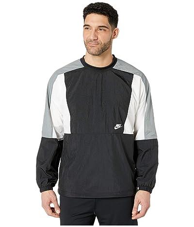 Nike NSW Jacket Woven Crew Color Block (Black/White/Smoke Grey/White) Men