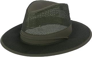 622d8c31360739 Kenny K Men's Lightweight Mesh Safari Hat with Chin Cord