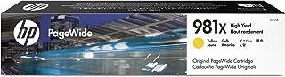 Hewlett Packard L0R11A 981X XL Yellow OEM Pagewide Ink Cartridge Ridge