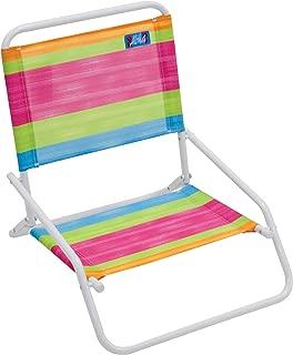 RIO Beach Wave 1-Position Beach Folding Sand Chair - Summer Stripes (Renewed)