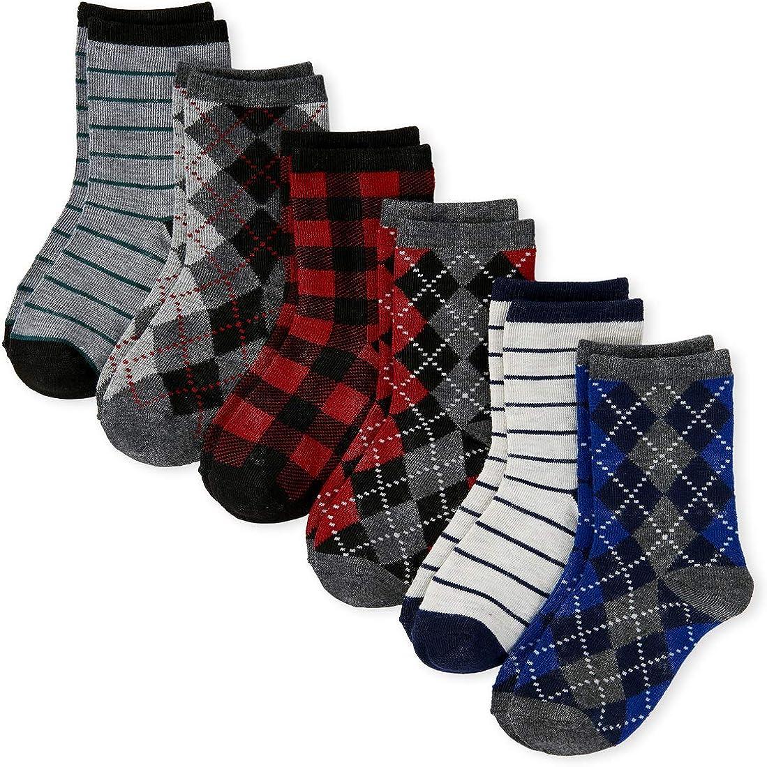 The Children's Place boys Dressy Socks, Pack of Six