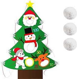 BeautyMood Christmas Felt Bean Bag Toss Game, Felt Christmas Tree Snowball Toss Game Christmas Game For Kids Adults Party Christmas Toss Game Fun Party Decorations Christmas Kids Gifts Christmas Gamin