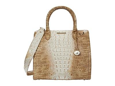 Brahmin Ombre Melbourne Caroline Satchel (Praline) Handbags
