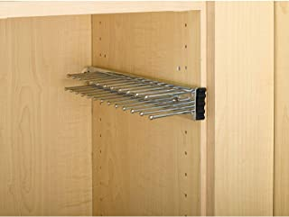 Rev-A-Shelf TRC-14CR 14 Inch Side Mount Extending Tie Organization Rack, Chrome